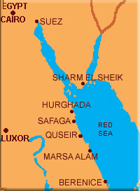 Swimming With Dolphins Red Sea Egypt Holidays - Map of egypt holiday resorts